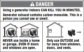 Generator Safety Requirements – Homelite